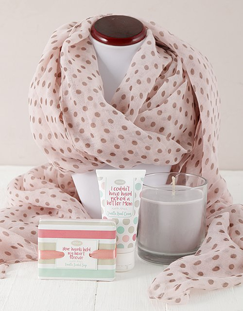 mothers-day: Moms Scarf and Pamper Gift!
