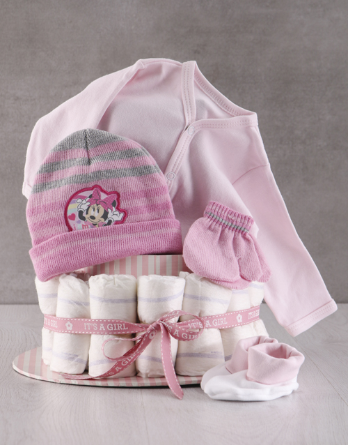 baby: Winter With Minnie Mouse Nappy Cake!