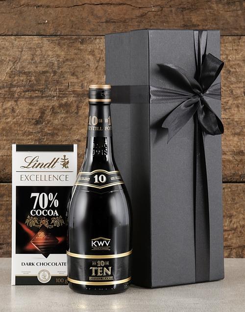 valentines-day: Black Box of KWV Brandy!