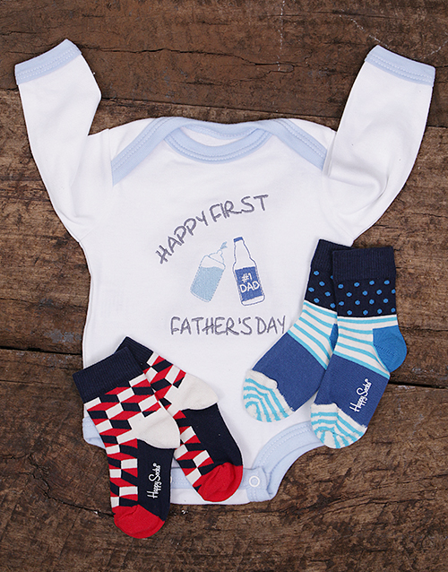 fathers-day: Happy First Fathers Day Onesie and Socks!
