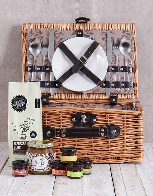 gourmet: Sweet Spreads and Coffee Picnic Basket!