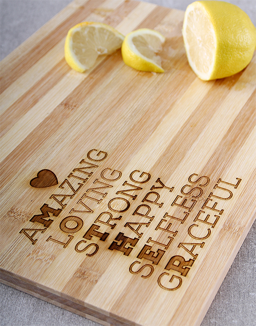 mothers-day: Words for Mum Chopping Board!