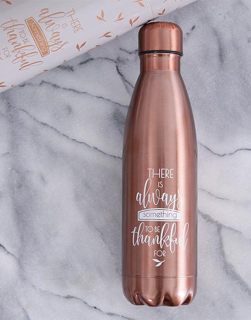 faith: Always Thankful Water Bottle!