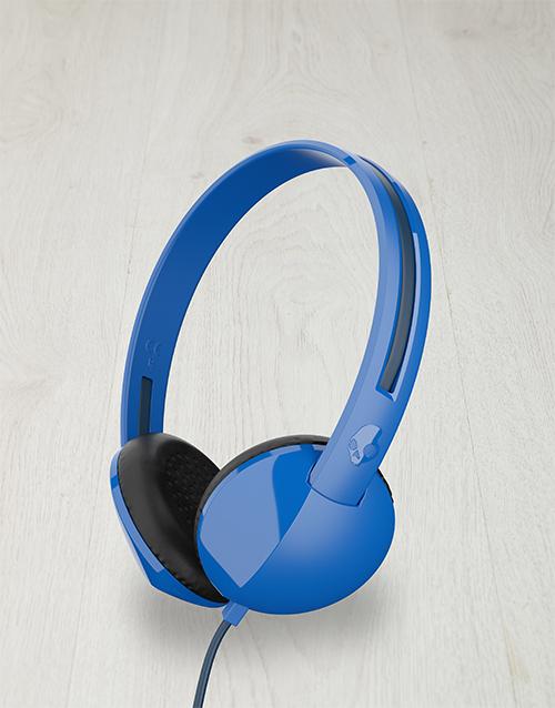 gadgets: Blue Skullcandy Anti Headphones!