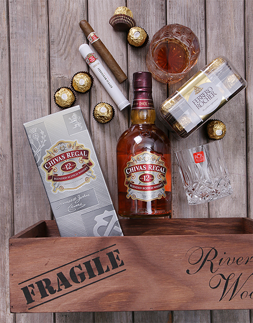 fine-alcohol: Chivas Regal and Cuban Cigar Crate!