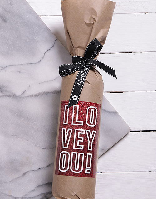 fine-alcohol: Sparkly Love Wine in Craft Paper!