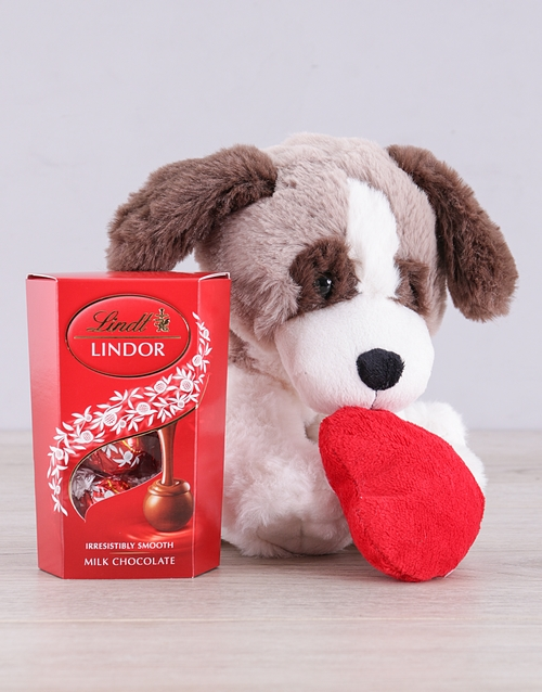 teddy-bears: Puppy and Lindt Gift!