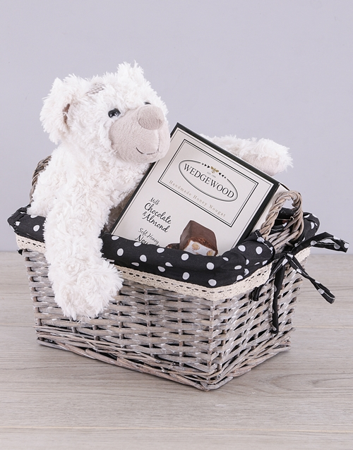 teddy-bears: Teddy and Choc Nougat Basket!