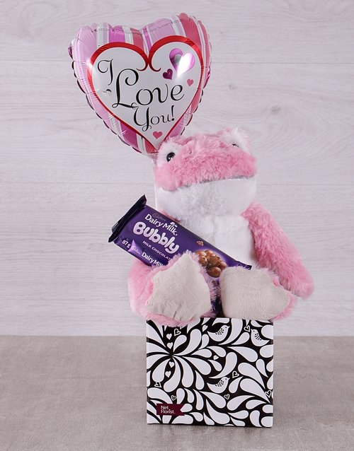 valentines-day: Pink Love Frog and Bubbly Box!