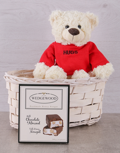 teddy-bears: Teddy Hugs Basket!