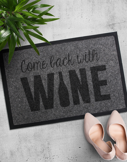 house-warming: Come Back With Wine Doormat!