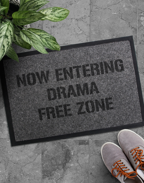house-warming: Drama Free Zone Doormat!