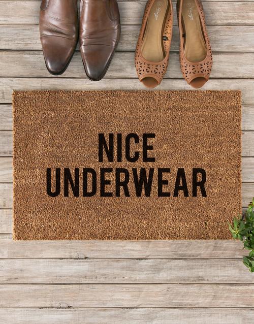 home-decor: Nice Underwear Doormat!