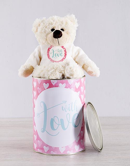 teddy-bears: Love and Romance Teddy Tin Hamper!