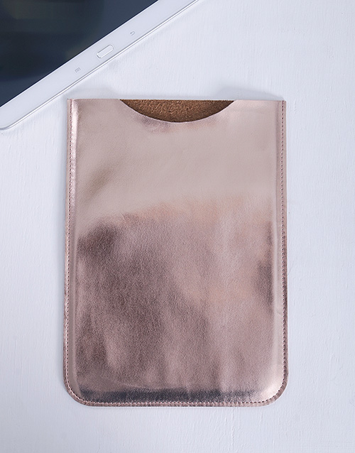 apparel: Rose Gold PU Tablet Cover!