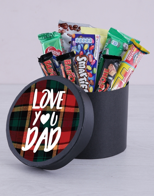 fathers-day: Love You Dad Chocolate Hat Box!