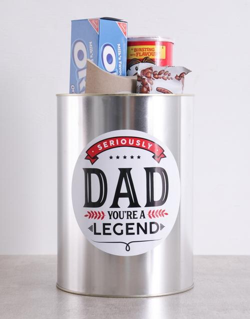man-crates: Legendary Dad Bro Bucket!