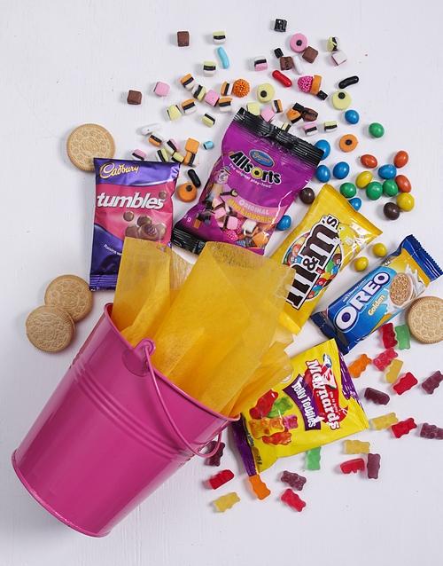 grandparents-day: Pink Bucket of Sweet Treats!