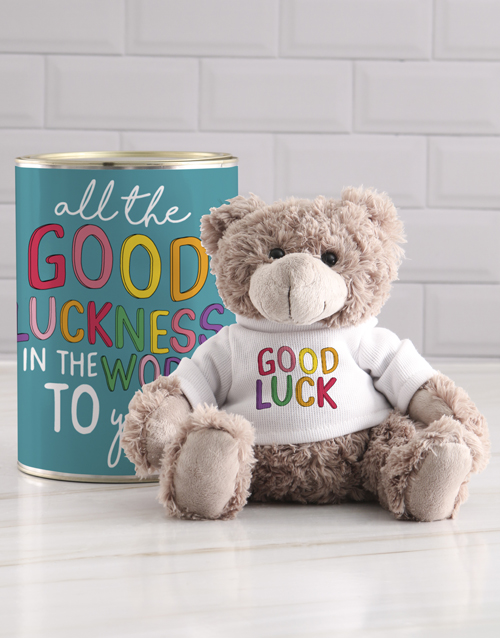 teddy-bears: Luckness Teddy in a Tin!