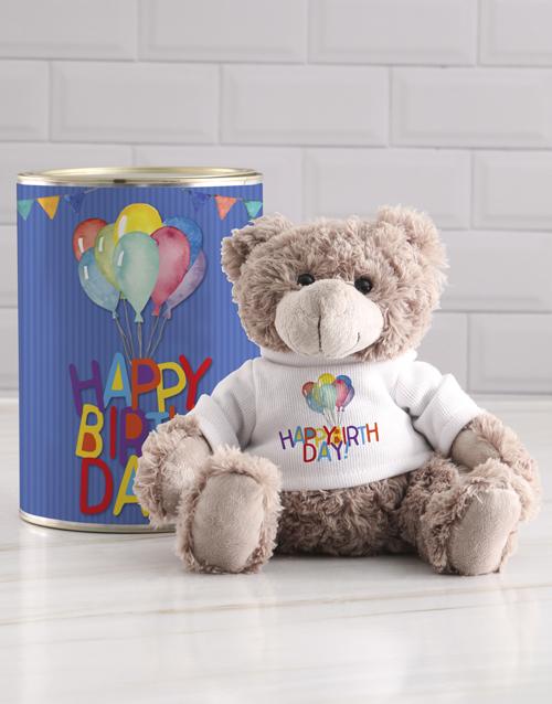 teddy-bears: Balloons Teddy in a Tin!