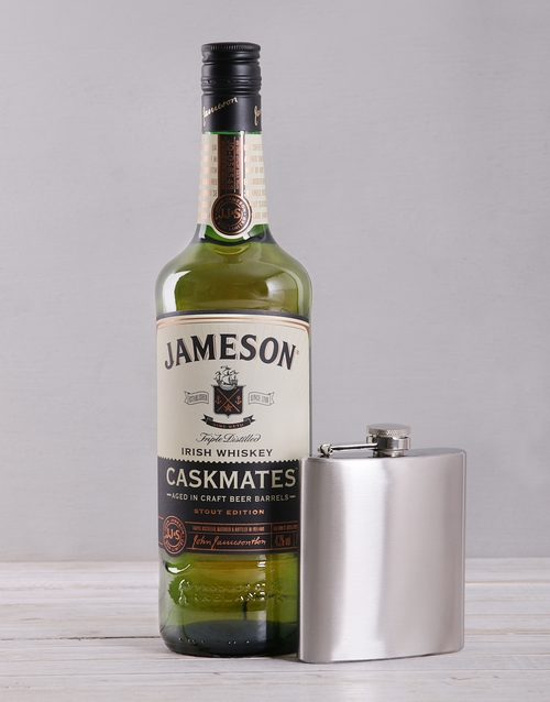 gifts: Jameson Caskmates and Hipflask Crate!