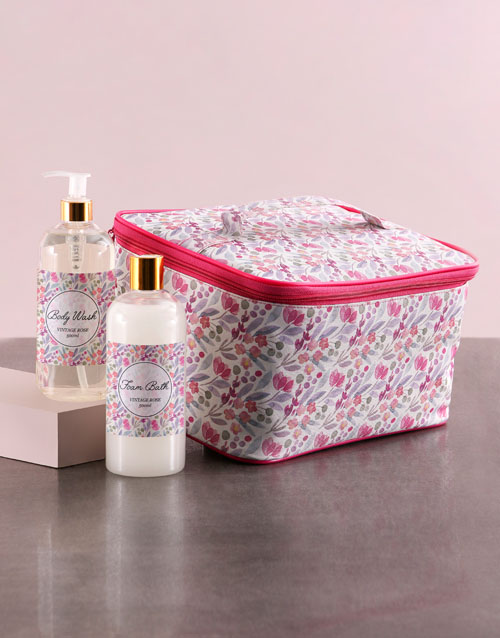personalised: Large Pink Floral Vanity!