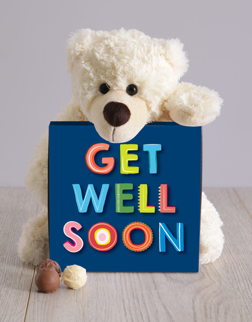 teddy-bears: Teddy and Get Well Chocolate Box!