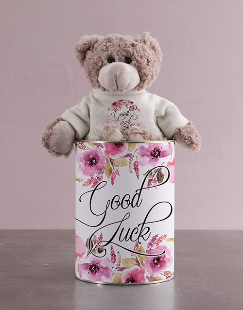 teddy-bears: Teddy in a Good Luck Tin!