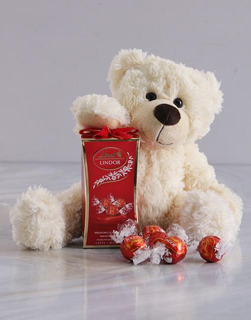 teddy-bears: Snowy Bear and Lindt Chocolate!