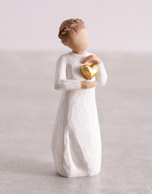 christmas: Keepsake Girl Willow Tree Figurine!
