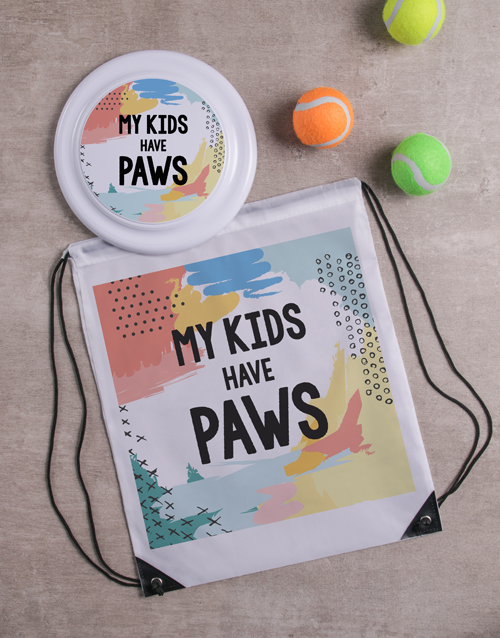 fathers-day: Kids Have Paws Frisbee and Bag!