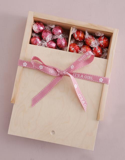baby: Baby Girl Ribbon Lindt Treasure Box!