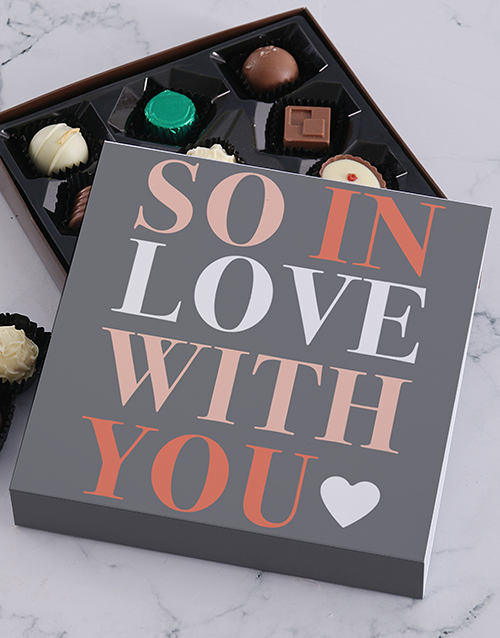 chocolate: So In Love Chocolate Tray!