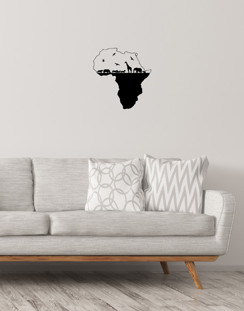 baby: Africa Map Wall Vinyl!