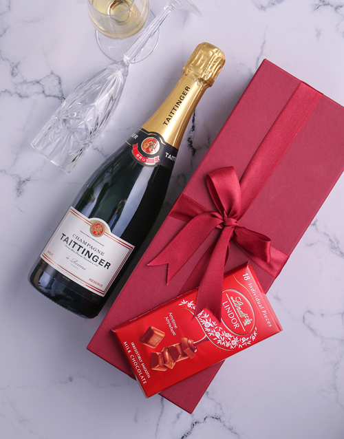 fine-alcohol: Red Box of Taittinger Champagne!