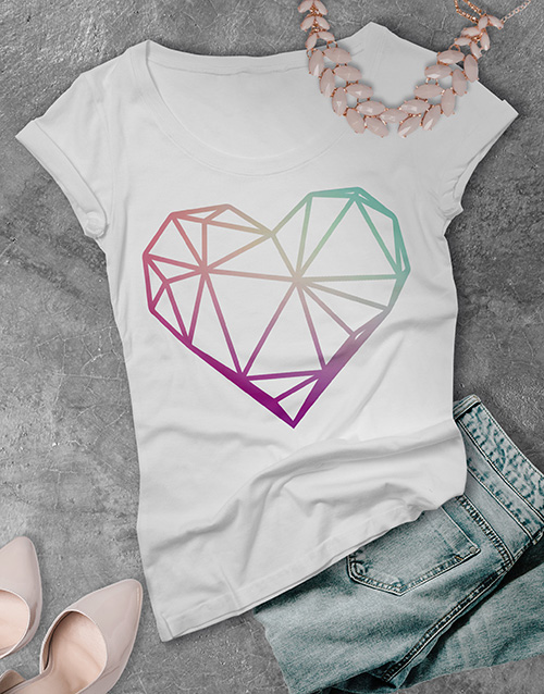 anniversary: Abstract Heart Ladies T Shirt!