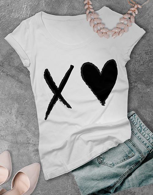 valentines-day: XO Heart Ladies T Shirt!