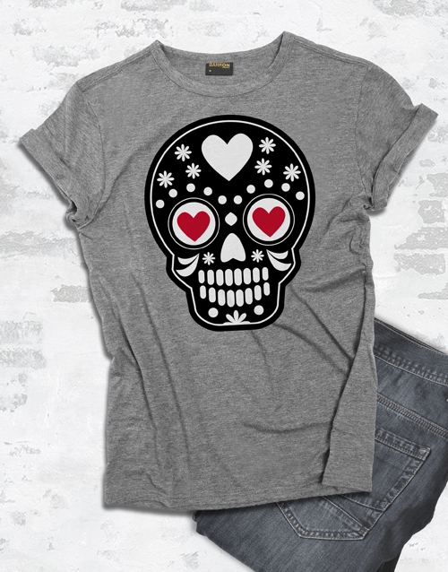 valentines-day: Mexican Heart Skull T Shirt!