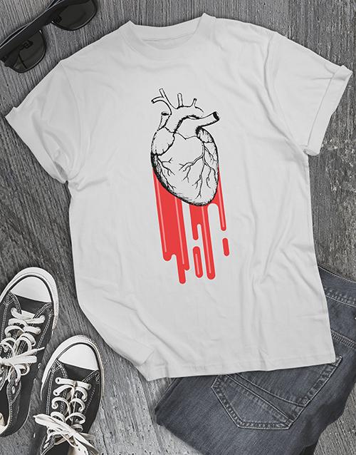 anniversary: Heart Burst T Shirt!