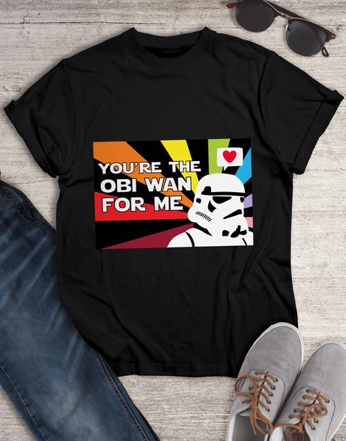 valentines-day: Obi Wan Love Colour T Shirt!