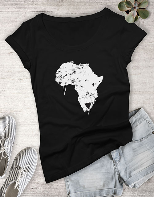 personalised: Heart In South Africa Ladies T Shirt!