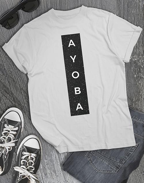 fathers-day: Ayoba Glitter T Shirt !