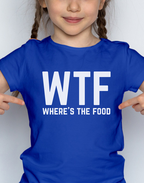 personalised: WTF Kids T Shirt!