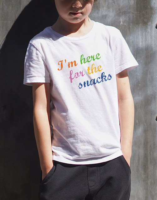 clothing: Here For The Snacks Kids T Shirt!