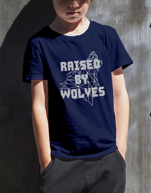 clothing: Raised By Wolves Kids T Shirt!