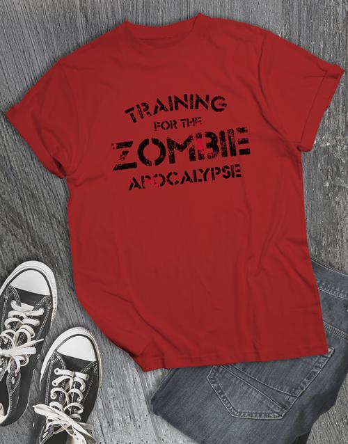 personalised: Zombie Apocalypse T Shirt!