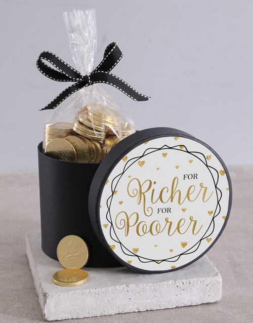 chocolate: For Richer For Poorer Choc Coin Hat Box!