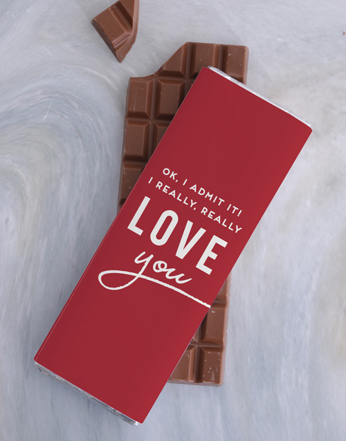 personalised: I Really Love You 300g Chocolate Slab!