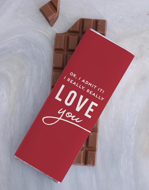 valentines-day: I Really Love You 300g Chocolate Slab!