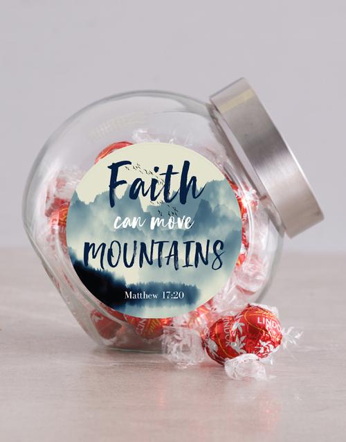 christmas: Faith Moves Mountains Candy Jar!